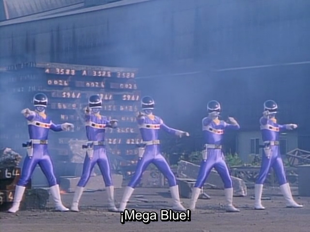 Megaranger, cambiando de color antes de que fuese popular